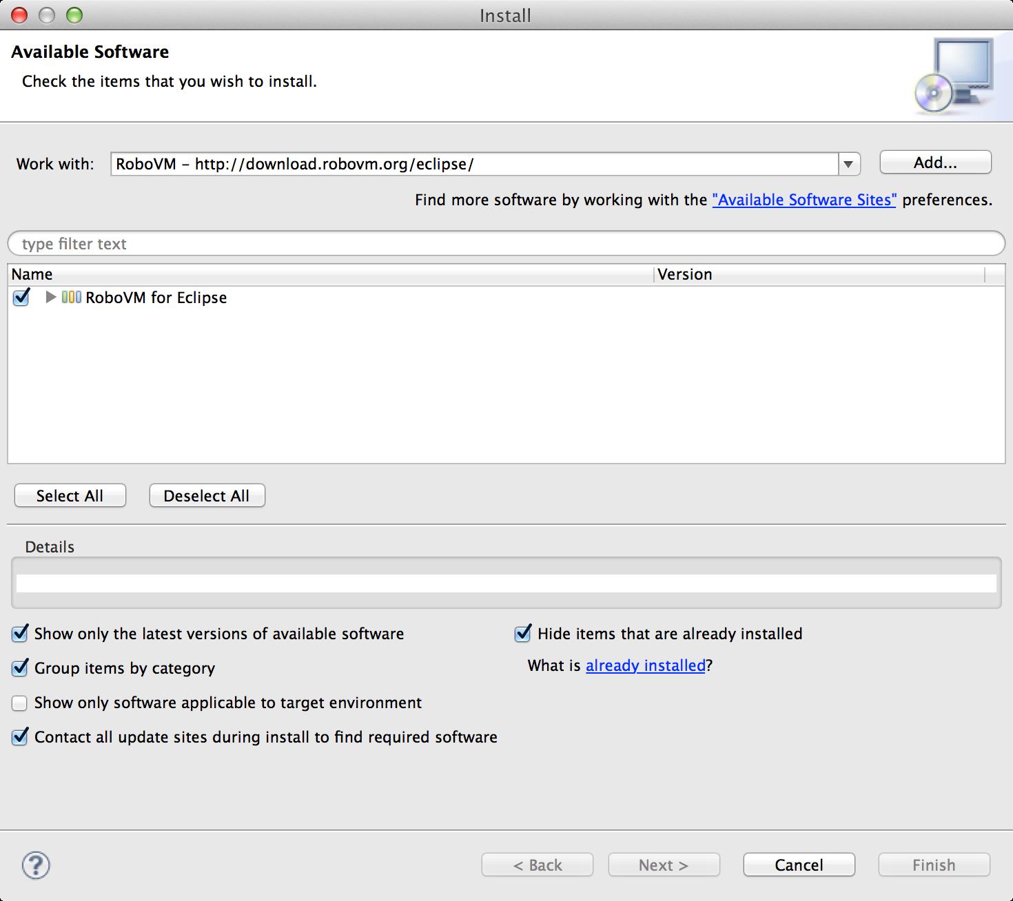 HelloWorld with Java, iOS and RoboVM
